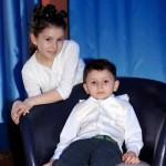 Двойной детский портрет для детского портфолио