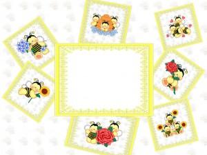 Детская рамка для фотошоп. Маленькие пчелки. Фоторамки для фотографий скачать бесплатно и приступить к оформлению фоток можно прямо сейчас.