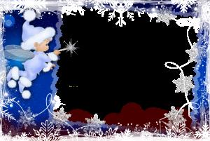 Бесплатные рамки для фотошопа. Маленький эльф в ночной пижаме исполняет самые заветные желания загаданные на ночь. Один взмах волшебной палочки и мечта исполнится.