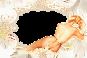 Фоторамка с полу обнажённой женщиной. Вставить фото в рамку. Бесплатные фоторамки для фотографий 167