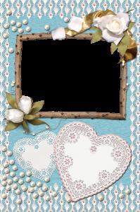 Белые розы и сердечки. Фоторамка на три фотографии. Бесплатно рамки для фото. Фоторамки для фотографий 183