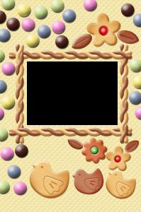 Вафельная, печенная, конфетная, кофейная фоторамка для детей. Бесплатно рамки для фото. Фоторамки для фотографий 184