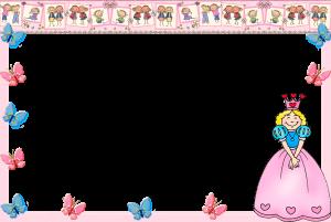 Принцесса, бабочки и дети. Детская фоторамка. Бесплатно рамки для фото. Фоторамки для фотографий 185