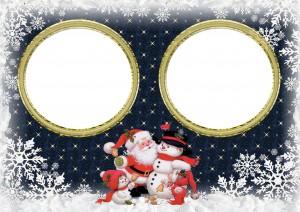 Новогодняя фоторамка на две фотографии. Рамки для фото онлайн. Скачать бесплатные фоторамки для фотошопа 186
