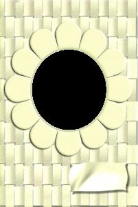 Зеркальце в форме ромашки. Рамки для фото онлайн. Скачать бесплатные фоторамки для фотошопа 187