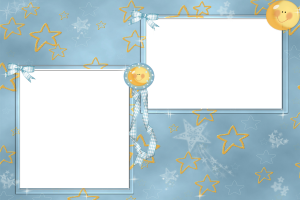 Фоторамка со звёздочками, на две фотографии.