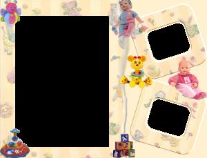 Детская фоторамка на три фотографии. Фоторамки для фотошопа. Бесплатно рамки для фото 197
