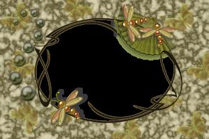 Фоторамка со стрекозами и бабочками.