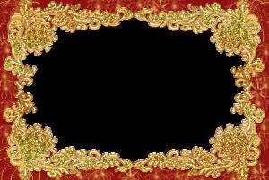 Фоторамка с золотым обрамлением. Бесплатные рамки для фотографий. Скачать фоторамки для фотошопа 204