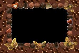 Сладкая фоторамка. Море сладких конфет и шоколада бесподобно и пленительно окутает ваш снимок, подарит ему неповторимый лакомый оттенок сладострастия. Изысканные золотые бабочки, слово обертки для конфет из фольги.
