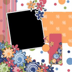 Фоторамка с цветами 211