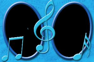 Музыкальная рамка. Зажигательный танец нот и скрипичного ключа. Если у вас есть фотка с танцующим персонажем, то эта фоторамочка подчеркнет радость и веселье, которые струятся с фотки.