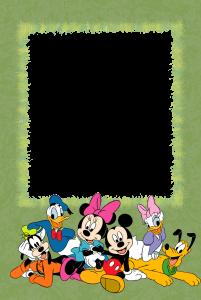 Вставляйте ваши фото и снимки ваши детей в рамки бесплатно. Веселые друзья Диснея - Микки маус, Доналд, Плуто и Поночка будут задорно играть и резвиться рядом.