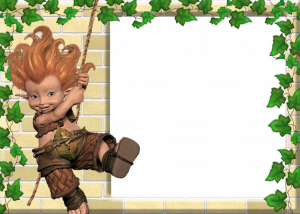 Детская рамка для фотошопа с героем фильма - мультика Артур и минипуты.