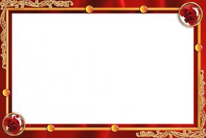 Красная рамка для фотошопа аккуратно украсит фото и пикантно подчеркнет детали.