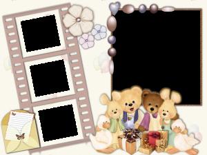 """Рамка для фотошоп """"Лучшие друзья"""" добавит веселья радости к фоткам с дня рождения."""