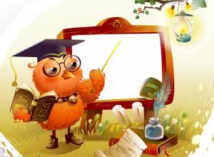 Школьная рамка. Учительница первая моя. Сова очень умная птица, а филин олицетворение мудрости.