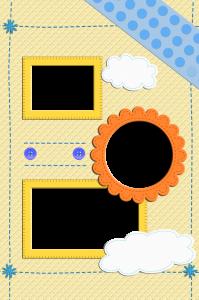 Летняя рамка для вставки снимков с отдыха на теплом море или любимой даче.