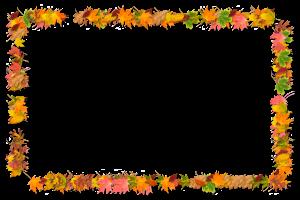 Осенний мотив разноцветных листьев.  Фоторамки онлайн. Скачать бесплатные рамки для фотошопа.