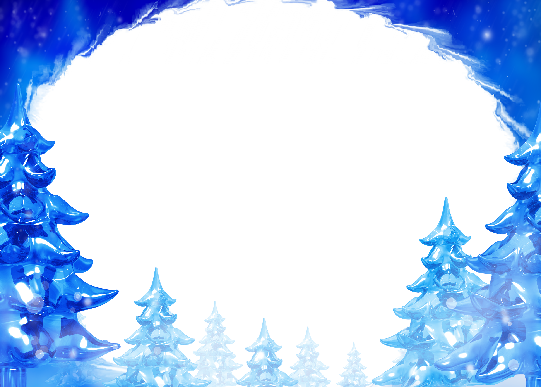 Рамка для фотошопа зима