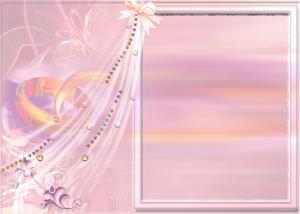Свадебная рамка для фотошопа. Обручальные кольца и стразы в форме шторы. Пикантно и нежно, как любовь в сердцах молодоженов.
