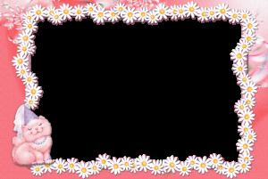 Милая кошечка на цветочной рамке из ромашек это сама нежность и легкость. Бесплатные рамки скачать можно просто путем нажатия на маленькую их копию. Шаблоны рамок скачать бесплатно. Фоторамки для ваших фото.