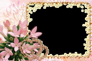Нежнейшая рамка с розовыми цветами и сердечками для любовных фото.