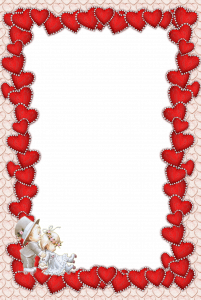 Очень красивая рамочка для влюбленных. Ваш кадр наполнится еще большей нежностью, радостью и романтизмом.