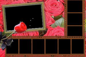 Составьте коллаж на тему - история нашей любви. Запах роз и экзотика фотопленки, то что нужно для создания атмосферы романтики. Скачать бесплатно рамки и начать эксперименты с картинками, как раз то что надо для поднятия жизненного тонуса.
