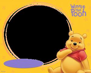 Круглая рамка с Винни Пухом, снизу овал для вставки подписи. Винни Пуха и здесь не плохо кормят. Рамки бесплатные. Детские фоторамки.