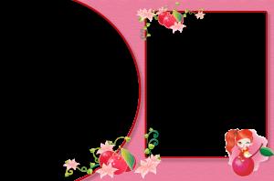 Детская рамка на две фото. Девочка и вишня.