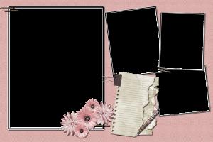 Гармоничное сочетание выдержанного розового цвета и обрывков бумаги похожи на то настроение при котором пишутся стихи. Рамки бесплатно вдохновят вас на творческие мысли и дизайнерский процесс. Скачать их можно спокойно без регистрации.