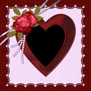 Рамка с сердцем сделает ваши любовные фотографии еще романтичнее и нежнее. Розы добавят страсти, а жемчуг пикантности.