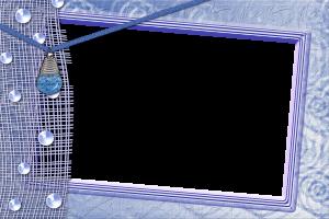 Переливы синих оттенков и капелек напоминают о морском воздухе. Чудесная рамочка для вставки фото летнего отдыха.