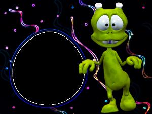 Фоторамка с зелёными человечками. Зеленые человечки совсем не злые ребята. Посмотрите как гуманоид весело вам улыбается и повеселитесь вместе с ним. А кто это там рядом прилетел на космическом корабле? Может быть это вы?