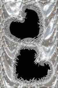 Фоторамка. Серебро и сердца с шипами, олицетворяющими розы. Россыпь жемчуга и узоры по периметру.