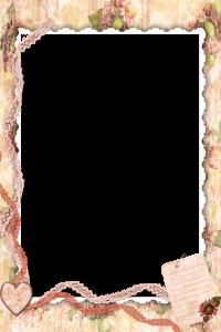 Фоторамка для фотошопа в стиле ретро. Обратите внимание на левый нижний угол - там притаился листок бумаги для вашей подписи.