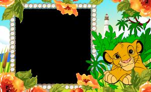 """Бесплатная рамка для фотошопа """"Король лев"""""""