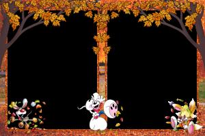 Фоторамка мышиная осень