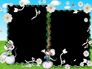 Фоторамка с белыми мышками