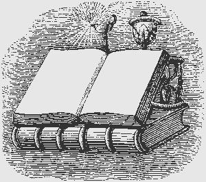 Двойной шаблон для фотошопа в виде раскрытой книги придерживают песочные часики.