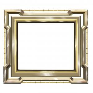 Прямоугольная деревянная рамка, имеющая неравную поверхность всех участков