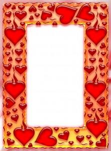 Фоторамка. Пылкие алые сердца дополнят атмосферу любви.