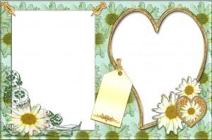 Фоторамка. Что может лучше украсить романическую фотку чем цветы?