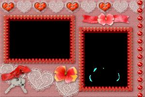 Фоторамка. Ключи от двух влюбленных сердец.