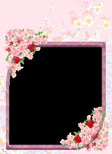 Фоторамки. Ромб, увитый цветами по углам, прекрасно будет уместен для памятного изображения.