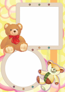 Рамочка на два снимка плюшевые мишки