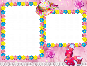 Розовая рамочка для девочки