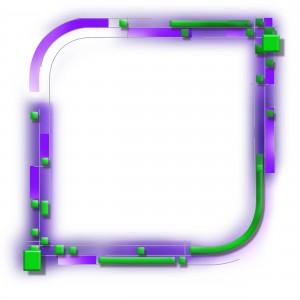 Фоторамка свет неона. Неон пронизывает тонкие короткие трубочки неправильной формы.