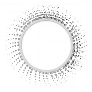 Белоснежная окантовка с рядами чёрных точек, которые постепенно исчезают.